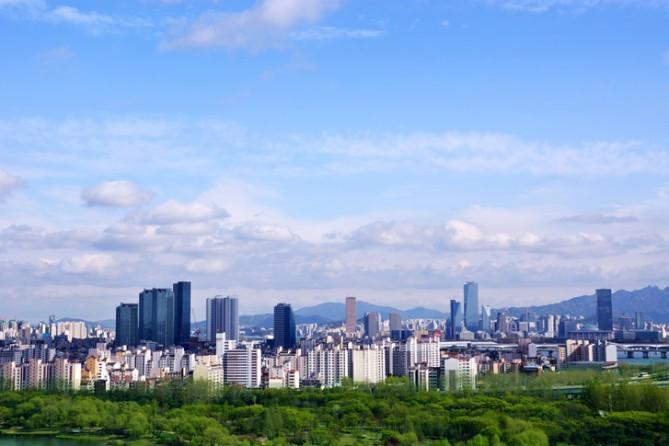 청명한 서울 하늘, (사진=GIB 제공)